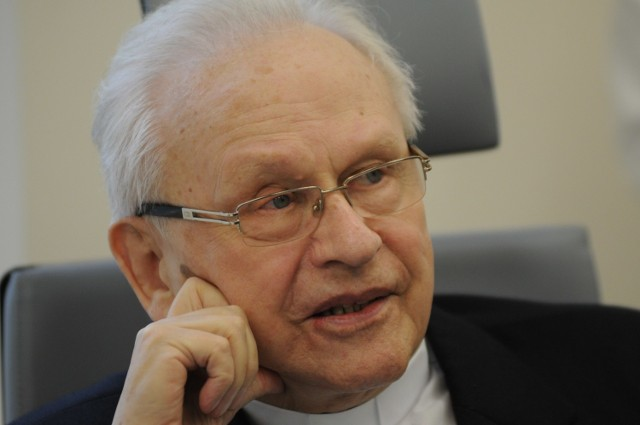 Patron ronda - ksiądz prałat Konrad Herrmann - honorowy obywatel Zielonej Góry