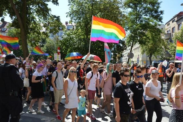 Marsz Równości w Opolu w poprzednich latach.