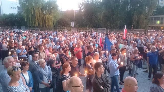 Mieszkańcy Katowic demonstrowali swój sprzeciw wobec reformy sądów