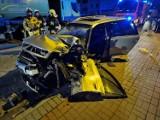 Grodzisk Wielkopolski: Wypadek przy ulicy Kąkolewskiej. W środku nocy osobówka uderzyła w cysternę