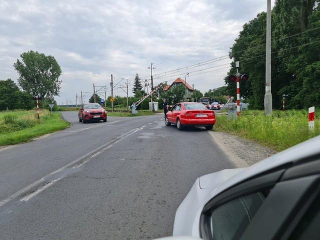 Awaria rogatek na drodze nr 292 na wyjeździe z Nowej Soli w kierunku Bytomia Odrzańskiego