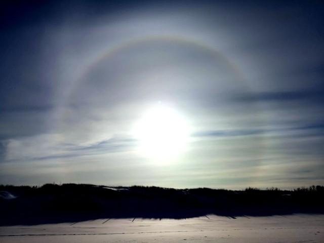 Słoneczne halo nad Bałtykiem