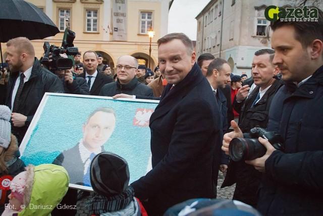 Prezydent RP Andrzej Duda w Kamiennej Górze