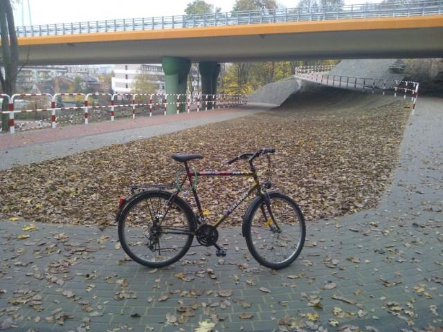 Ścieżka rowerowa pod Trasą Uniwersytecką.