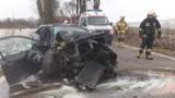 Groźny wypadek samochodowy w okolicach Bruku - policjanci apelują o ostrożność za kierownicą [ZDJĘCIA]