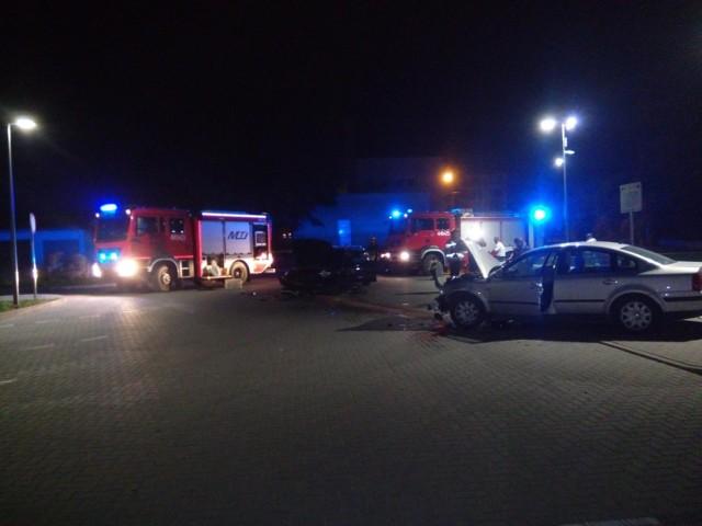 Na miejscu nocnego wypadku w Opatowie