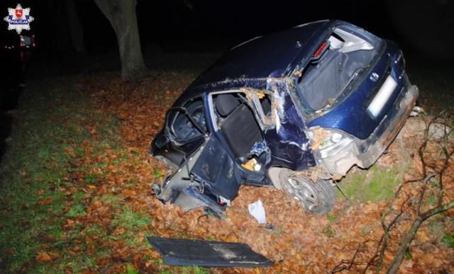 Pojazd rozbity w wyniku zdarzenia