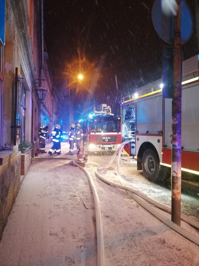 Pożar na ulicy 17 Stycznia w Międzychodzie