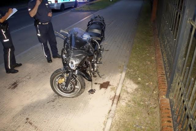 Wypadek motocyklisty w Słupsku. 31-latek trafił do szpitala