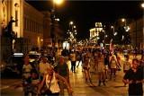 Nightskating Warszawa - 15 sierpnia dziewiąty nocny przejazd rolkarzy ulicami miasta
