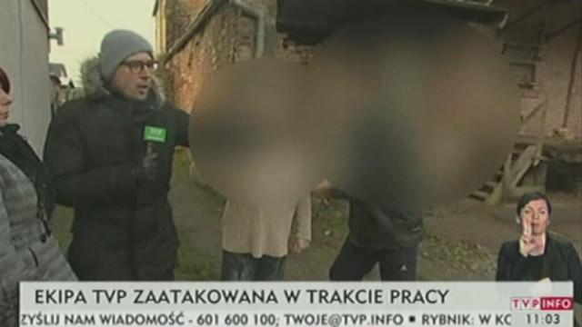 Zaatakowali na wizji dziennikarzy TVP Szczecin