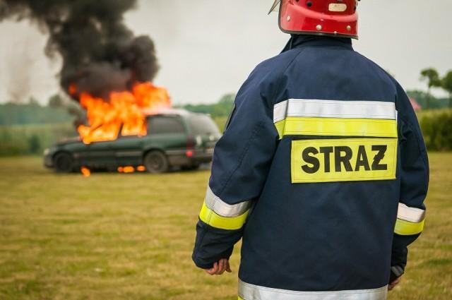 W sobotę 19 czerwca 2021 płonął samochód burmistrza Żagania