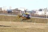 Wypadek motocyklisty na S1 w Tychach. Mężczyzna wypadł z drogi
