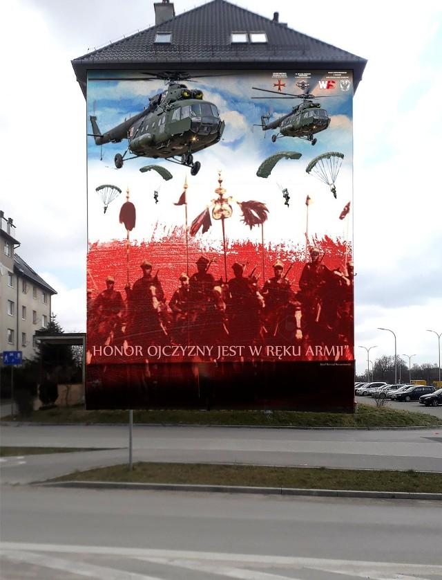 Na bloku komunalnym przy ulicy Kochanowskiego 12 w Kielcach powstanie  patriotyczny mural związany z historią polskiej armii. Treść projektu wzbudziła kontrowersje.