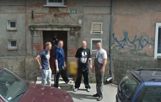 Kogo przyłapały kamery Google Street View na Piaskowej Górze w Wałbrzychu?