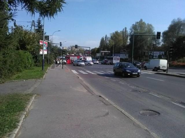 Wypadek miał miejsce w rejonie skrzyżowania Kamieńskiego i Malborskiej