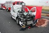 Gliwice: Wypadek na A4. Osobówka uderzyła w tira, zginął kierowca [ZDJĘCIA]