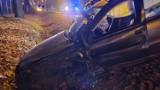Czołowe zderzenie na Stalmacha w Lublińcu. Samochody w strzępach