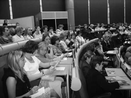 Uczestników konferencji zainteresowała część poświęcona przemocy w szkole.