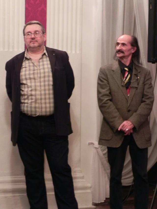 Od lewej: Jacek Popławski i Janusz Popławski (syn i bratanek tenora Janusza Popławskiego).