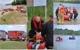 Samochód zatonął w jeziorze Orłowskim. W środku uwięzione były dwie osoby - to scenariusz ćwiczeń w powiecie lipnowskim [zdjęcia]