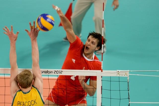 Michał Winiarski w meczu Polska - Australia na igrzyskach olimpijskich w Londynie w 2012 roku