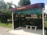 Dwa przystanki autobusowe w Dąbrowie ozdobione malowidłami FOTO