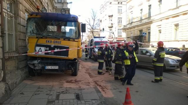 Wypadek na Gdańskiej i Więckowskiego w Łodzi