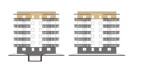 Tak ma wyglądać elewacja północna i południowa na nowym osiedlu bloków przy ulicy Naftowej w Sosnowcu