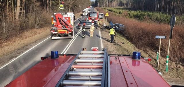 Wypadek w Libiążu spowodował dziś duże utrudnienia w ruchu