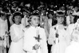 Pierwsza Komunia Święta w sieradzkiej kolegiacie ponad pół wieku temu UNIKALNE DJĘCIA