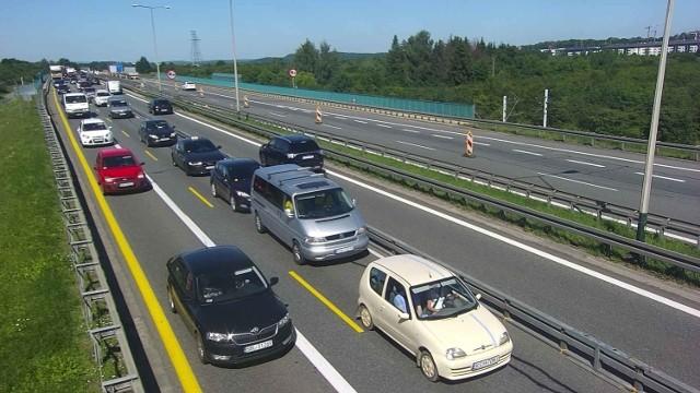 Wypadek na A4 spowodował dziś duży korek na obwodnicy Krakowa