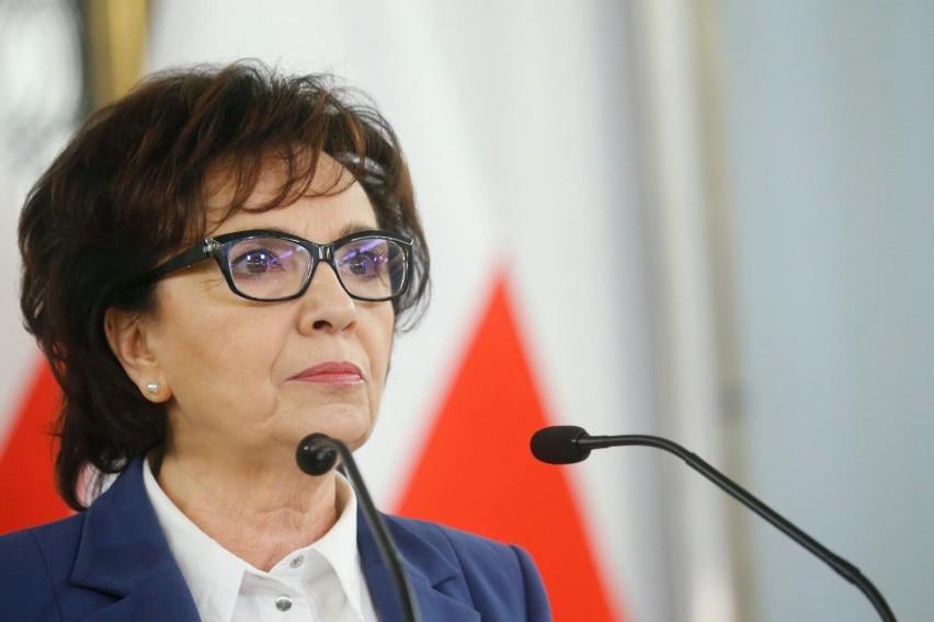 Marszałek Sejmu RP Elżbieta Witek będzie w niedzielę w...