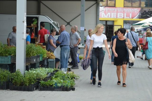 Na ostrowieckim Targowisku Miejskim w sobotę, 26 czerwca spotkać można było tłumy kupujących z powiatu ostrowieckiego i ościennych. Ogromnym powodzeniem cieszą się letnie owoce i świeże warzywa. Wciąż kupić można sadzonki kwiatów.  Na kolejnych slajdach prezentujemy zdjęcia z sobotnich zakupów>>>