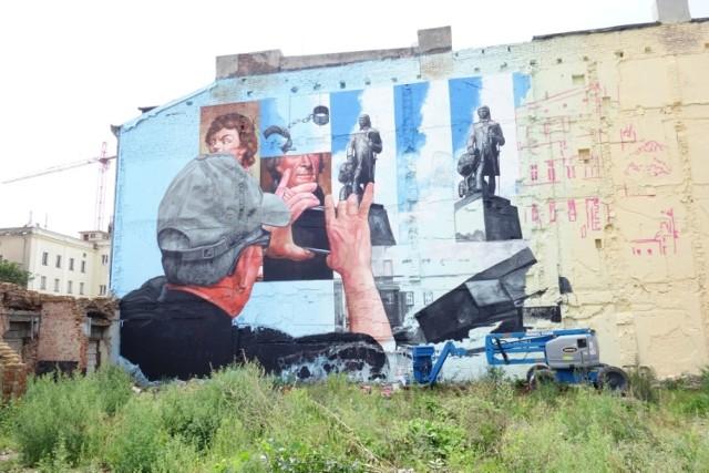 Mural na kamienicy przy Kilińskiego powstał z okazji rozpoczęcia festiwalu