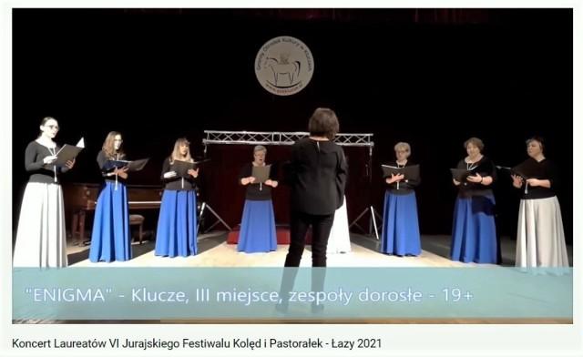 Chór Enigma z Klucz zdobył dwie nagrody w festiwalach kolęd i pastorałek 2021