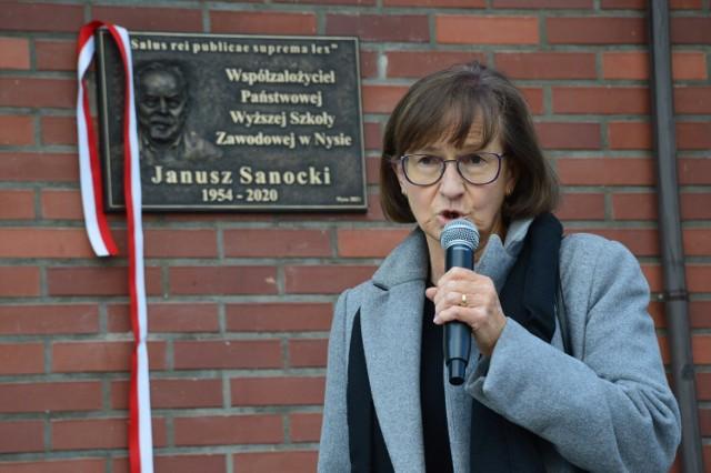 Janusz Sanocki upamiętniony tablicą jako jeden z założycieli nyskiej PWSZ.