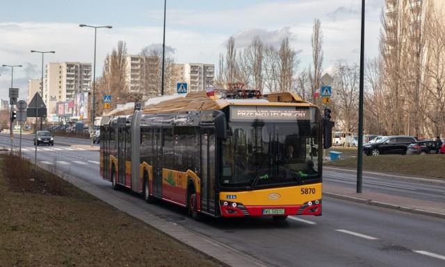 Solaris Urbino 18 electric IV generacji należący do MZA Warszawa. Podobne pojawią się na szczecińskich ulicach?