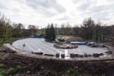 Kraków. Trwa budowa wodnego placu zabaw w parku Jordana [ZDJĘCIA]