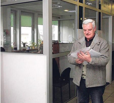 Wczoraj w sosnowieckim ZUS był Jan Hajda z Czeladzi. Fot.  Olgierd Górny