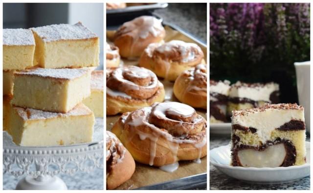 Sernik na kruchym cieście z lukrem, ciasto z kremem i gruszką czy tradycyjny piernik przekładany powidłami - z naszymi przepisami z łatwością krok po kroku przygotujesz te smakołyki w swoim domu! Przejdź do galerii.
