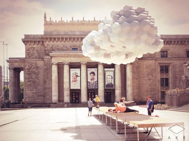 Projekt Plac Defilad. Chmury przed Pałacem Kultury?