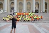 80 cyklistów przyjechało  do Sanktuarium Maryjnego w Licheniu Starym .