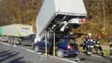 Wypadek na dk nr 75 w Okocimiu. Utrudnienia na drodze Brzesko – Nowy Sącz po wypadku