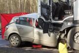 Tragiczny wypadek w Gołuchowie na drodze krajowej nr 12 między Kaliszem a Pleszewem. ZDJĘCIA