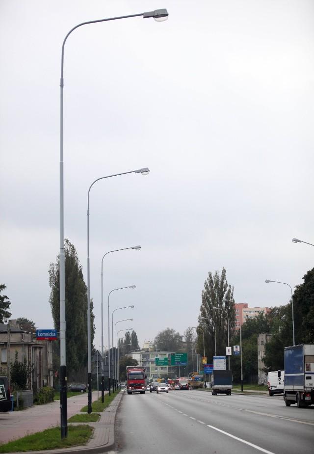 Nowe latarnie LED w Łodzi