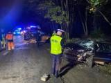 Dwie osobówki zderzyły się na skrzyżowaniu drogi DW218 w Wejherowie z ul. Parkową w Kąpinie