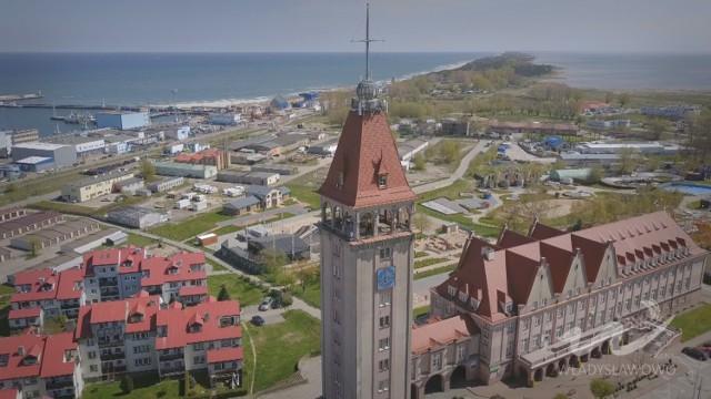 Władysławowo i plaża z drona, maj 2017