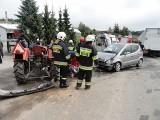 Wypadek Korzenna: zderzenie ciągnika z mercedesem [ZDJĘCIA]