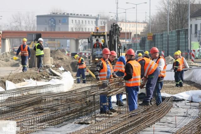 Tak wyglądała budowa linii tramwajowej
